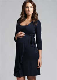 Ripe Maternity - Flounce Long Sleeve Nursing Dress