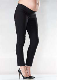 Queen Bee Slim Fit Black Maternity Capri Pants by Soon Maternity