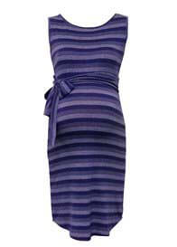 Queen Bee Hamptons Blue Striped Maternity Dress by Trimester Clothing