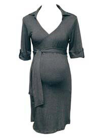 Trimester™ - Lyndon Collared Wrap Dress