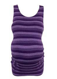 Queen Bee Jaden Purple Striped Maternity Tank Top by Trimester Clothing