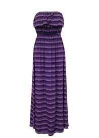 Queen Bee Octavia Purple Maternity/Nursing Maxi Gown by Trimester Clothing