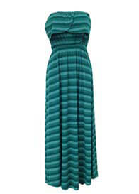 Queen Bee Harlow Green Stripes Nursing Maxi Dress by Trimester™