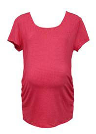 Queen Bee Aurora Red/White Stripe Maternity Top by Trimester Clothing