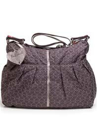 Babymel - Amanda Quilted Nappy Bag in Pewter