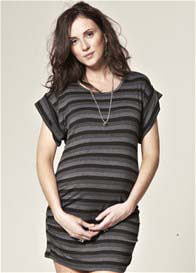 Queen Bee Spellbound Black Stripes Maternity Dress by Trimester™