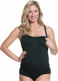 Queen Bee Dark Cinder Toffee Maternity/Nursing Cami by Cake Lingerie