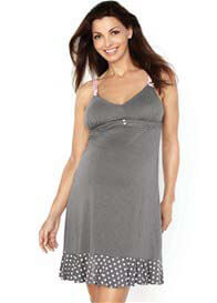 Queen Bee Rocky Road Maternity/Nursing Chemise by Cake Lingerie