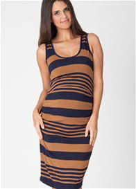 Ripe Maternity - Striped Nursing Dress