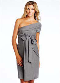 Queen Bee Grey Convertible Miracle Maternity Dress by Maternal America