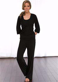 La Leche League - 2 pc Nursing PJ Set in Black