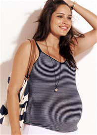 Bonds - Bumps Navy Striped Nursing Singlet - ON SALE
