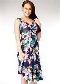 Soon Maternity - Di Knot Dress in Ink Print