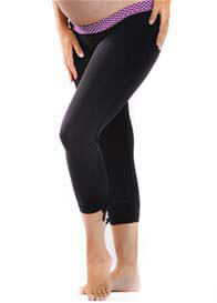 Queen Bee Tulip Crop Maternity Active Gym Pants by Via Privé
