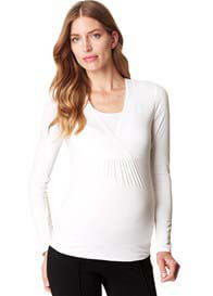 Queen Bee Long Sleeve Maternity/Nursing Top by Esprit