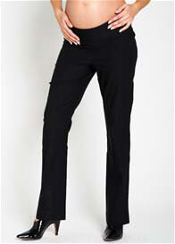Queen Bee Black Bengalin Hipster Maternity Trousers by Noppies