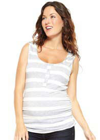 NOM - Grey Striped Nursing Top