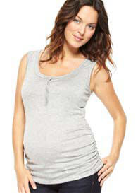 NOM - Grey Nursing Tank Top
