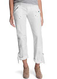 Queen Bee White Maternity Cargo Pants by Esprit