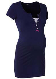 Queen Bee Elise Maternity/Nursing Top in Navy Blue by Noppies