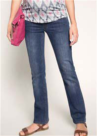 Queen Bee Light Wash Flared Maternity Jeans by Esprit
