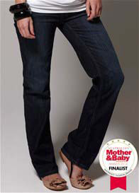 Queen Bee Dark Wash Straight Leg Maternity Jeans by Esprit