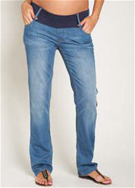 Queen Bee Pale Wash Straight Leg Maternity Jeans by Esprit