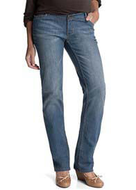 Queen Bee Pale Wash Full Panel Boyfriend Maternity Jeans by Esprit