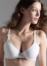 Queen Bee Pure Nursing Bra in White by Esprit