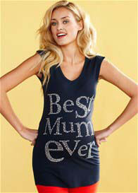 Queen mum - Best Mum Ever Tee in Blue