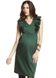 Queen Bee Piper Green Maternity Dress by More of Me
