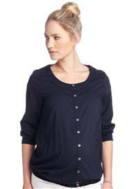 Queen Bee Navy Blue Maternity Peasant Blouse by Esprit