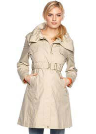 Queen Bee Sand Maternity Parka Trench Coat by Esprit