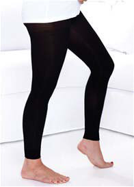Queen Bee Maternity Compression Footless Tights in Black by Preggers