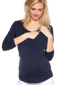 Esprit - Navy Long Sleeve Nursing Top - ON SALE