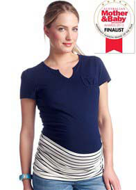 Queen Bee Navy Striped Maternity Belly Band by Esprit