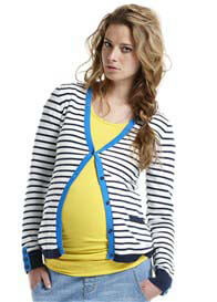 Queen Bee Striped Maternity Knit Cardigan by Esprit