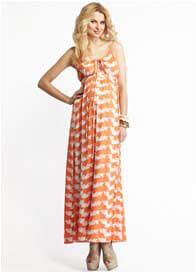 More Of Me - Olivia Orange Dot Maxi Dress