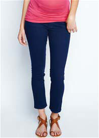 Queen Bee Navy Skinny Ankle Maternity Jeans by Maternal America
