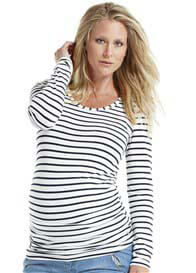 Esprit - Navy Striped Long Sleeve Tee
