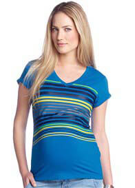 Esprit - Royal Blue Striped Tee - ON SALE