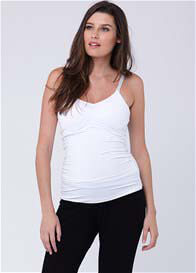 Queen Bee White Maternity/Nursing Tank by Ripe Maternity
