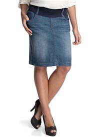 Queen Bee Denim Maternity Skirt in Light Wash by Esprit
