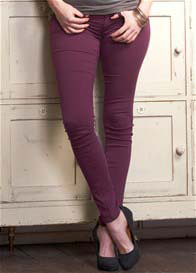 Queen Bee Reina Bordeaux Skinny Maternity Jeans by Mavi
