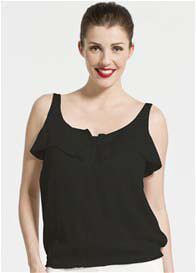 Queen Bee Adeline Noir Nursing Top by Pomkin