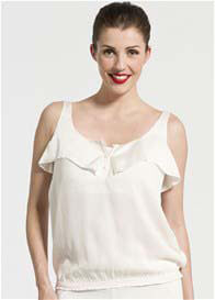 Queen Bee Adeline Ecru Breastfeeding Top by Pomkin