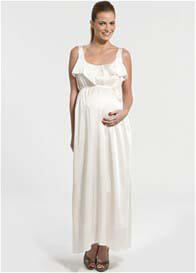 Pomkin - Nathalie Breastfeeding Dress in Ecru