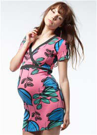 Queen Bee Beaumont Pink Floral Print Maternity Tunic by Noppies