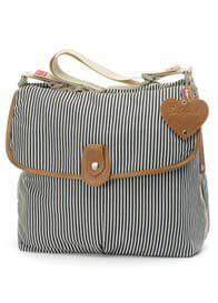Queen Bee Navy Stripe Satchel Baby Nappy Bag by Babymel