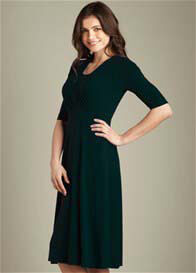 Maternal America - Tummy Tuck Nursing Dress with Sleeves - ON SALE